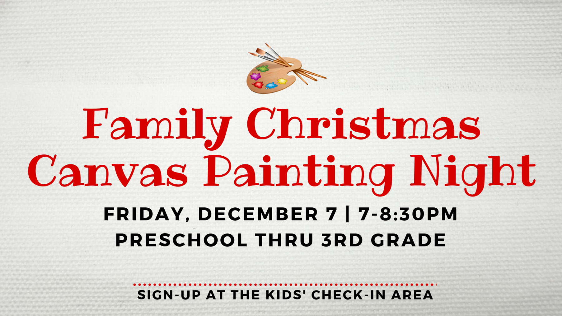 Family Christmas Canvas Painting Night